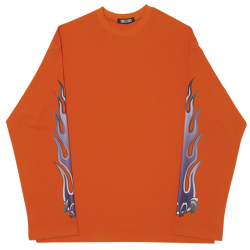 FLAME LOGO ROUND T-SHIRTS (ORANGE)