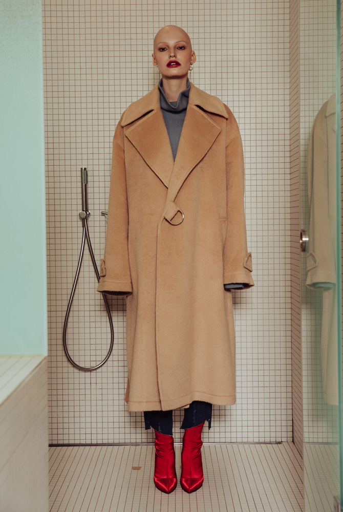 ALPACA WOOL TRENCH COAT (BEIGE)