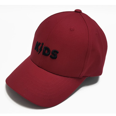 COTTON LOGO BALL CAP - RED