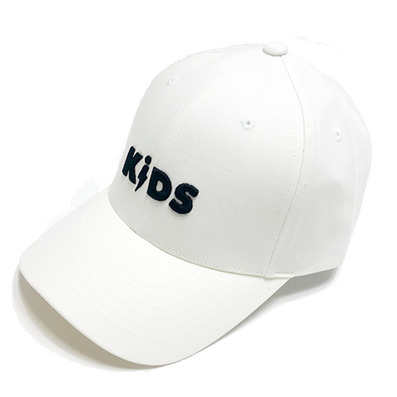 COTTON LOGO BALL CAP - WHITE