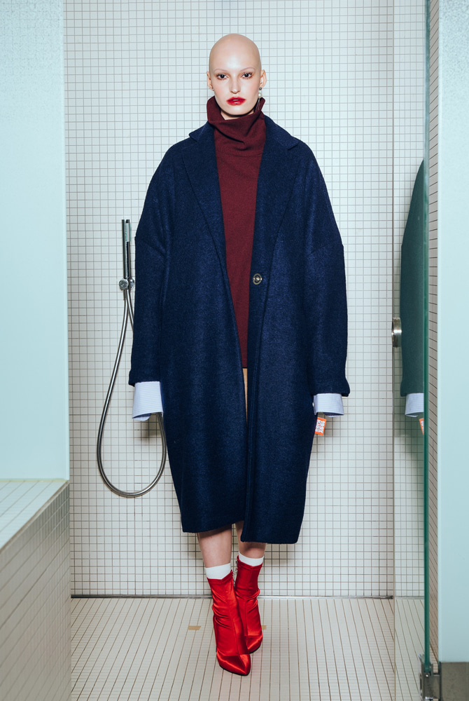 WOOL TERRY SINGLE COAT (NAVY)