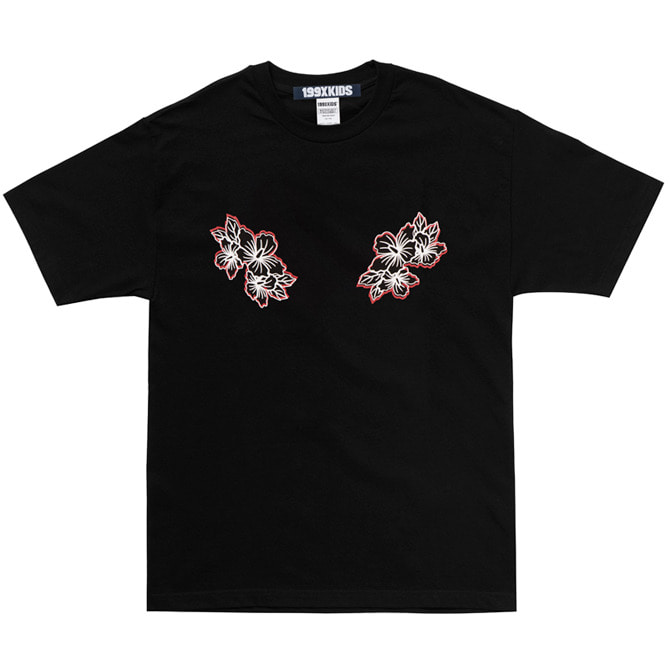 SHARON PRINT T-SHIRTS (BLACK)