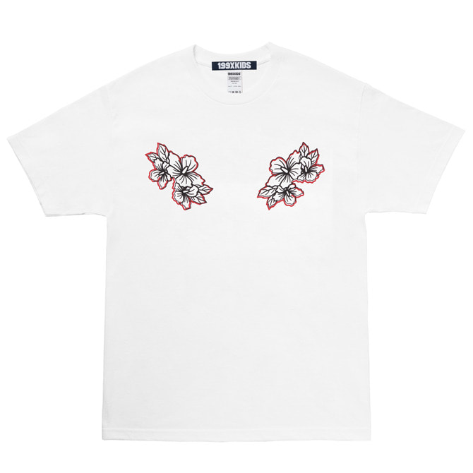 SHARON PRINT T-SHIRTS (WHITE)