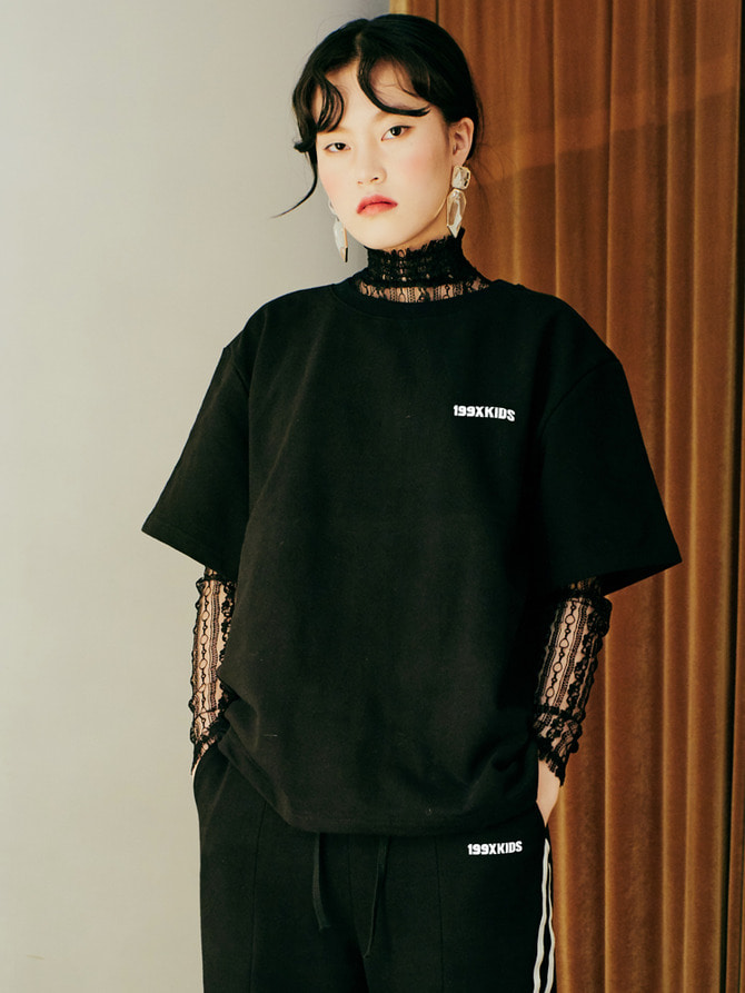 TERRY BASIC T-SHIRTS (BLACK)