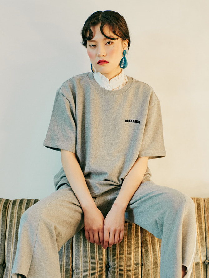 TERRY BASIC T-SHIRTS (GRAY)